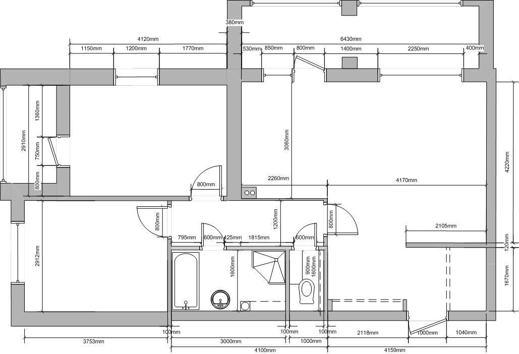 Планировка квартиры. Вид сверху.