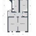 Квартира в Швеции, 86 кв.м.