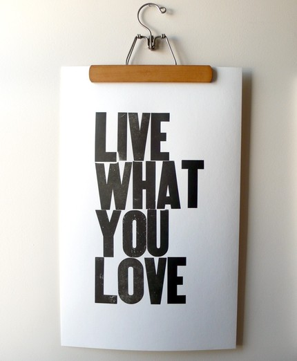 Live what you love, etsy
