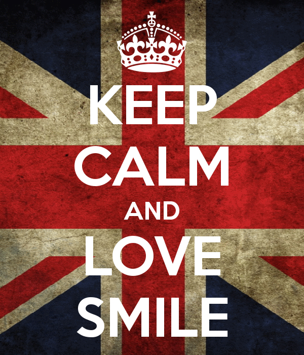 keep calm and love smile