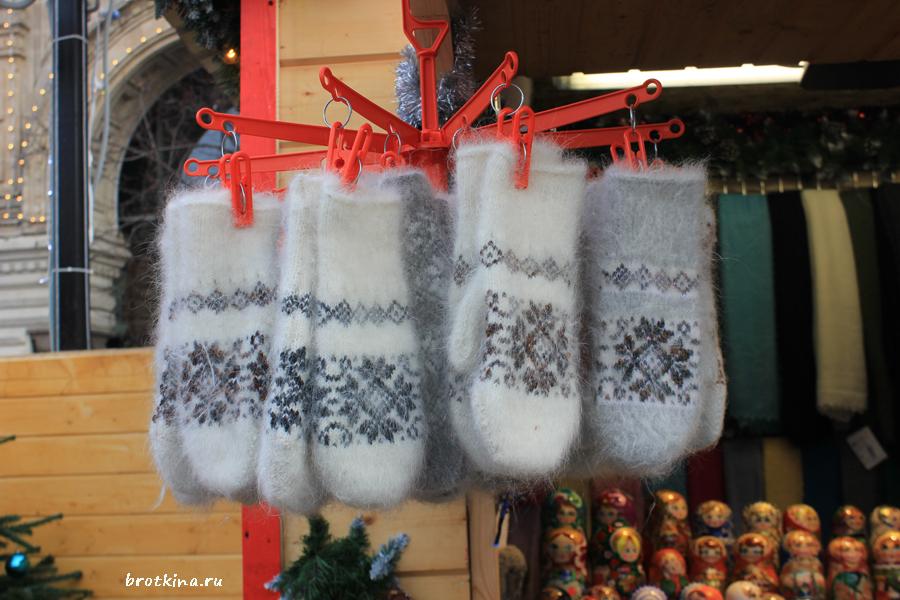 Вязаные рукавицы с норвежскими мотивами