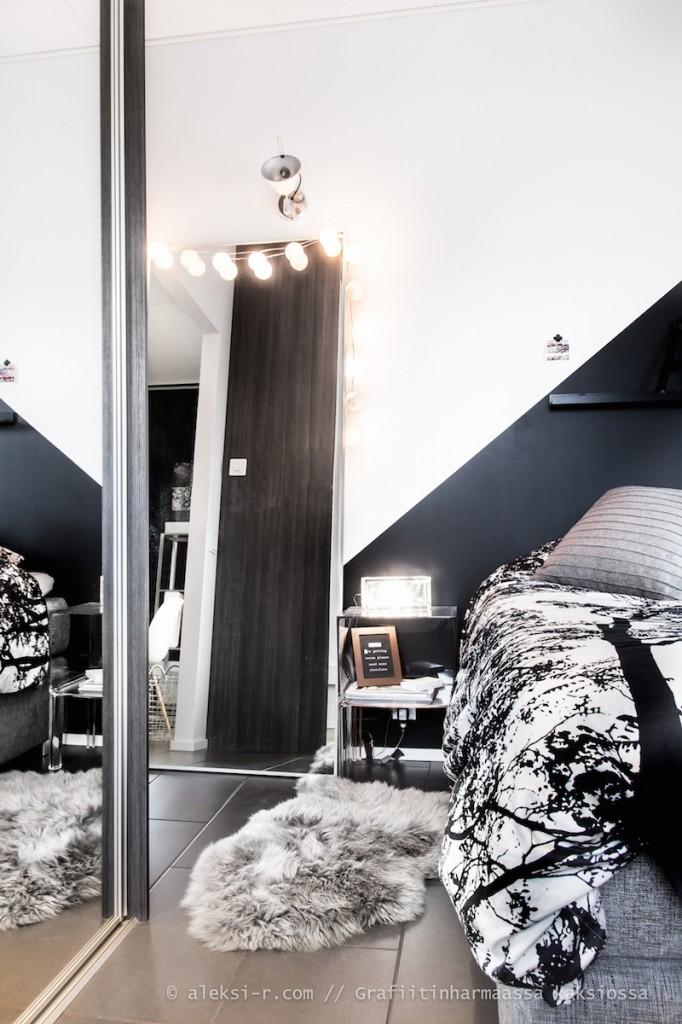 Студия в Финляндии. Aleksi scandinavian style. Спальня