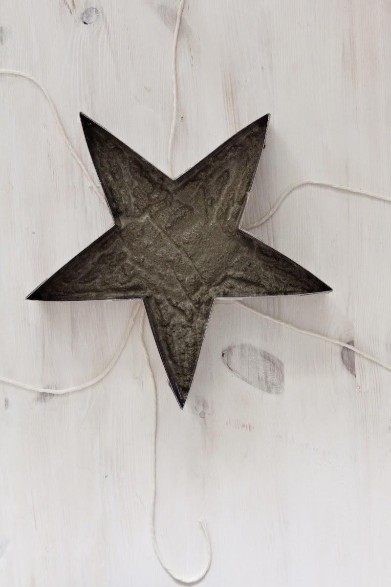 DIY. Звезда из бетона, гипса, плиточного клея